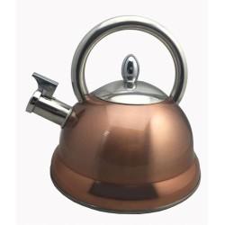 Bouilloire sifflante cuivré - 3 L - BAUMALU - Pour le Thé, Café, petit déjeûner - DE-227520