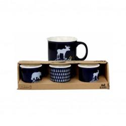 Coffret de 3 mini-mugs - Alaska - Bleu - ARD'TIME - Tasse / Mug - DE-510455