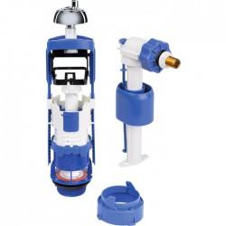 Mécanisme chasse d'eau et robinet - Kit rénovation - Clip'Easy - Double débit - Mécanisme de chasse - SI-370244