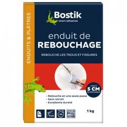 Enduit de rebouchage en poudre - Fissures jusqu'à 5 cm - 1 KG - BOSTIK - Enduit de rebouchage - 609461D