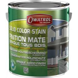 Laque de finition pour bois - Opaque Mate - Solid Color Stain - Rouge suédois - 2.5 L - OWATROL - Lasures et Vernis - BR-410553