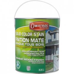 Laque de finition pour bois - Opaque Mate - Solid Color Stain - Blanc - 2.5 L - OWATROL - Lasures et Vernis - BR-410550