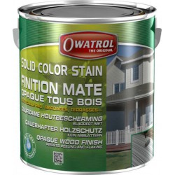 Laque de finition pour bois - Opaque Mate - Solid Color Stain - Vert olive - 2.5 L - OWATROL - Lasures et Vernis - BR-410554