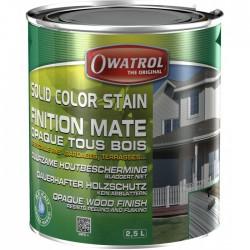 Laque de finition pour bois - Opaque Mate - Solid Color Stain - Gris antique - 2.5 L - OWATROL - Lasures et Vernis - BR-410549