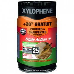 Traitement Poutres et charpentes - Préventif et curatif - 6 L - XYLOPHENE - Réparation et rénovation du bois - BR-602145