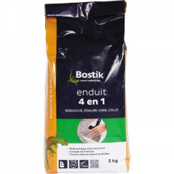 Enduit en poudre 4 en 1 - Rebouche / lisse / égalise et colle - 5 Kg - BOSTIK - Enduit universel / Multi-usages - BR-604436