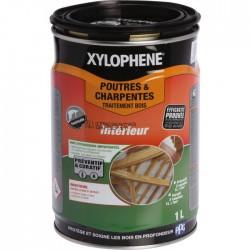 Traitement Poutres et charpentes - Préventif et curatif - 1 L - XYLOPHENE - Réparation et rénovation du bois - BR-602144