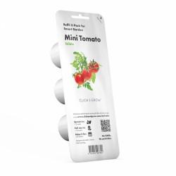 Capsule prête à planter - Mini tomates - Click & Grow - Lot de 3 - EMSA - Engrais et activateur - DE-363671