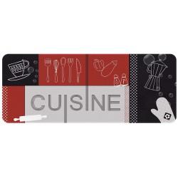 Abundo.fr | Tapis de cuisine Rouge et Noir - 50 x 120 cm - ID MAT - Tapis - 17,70€