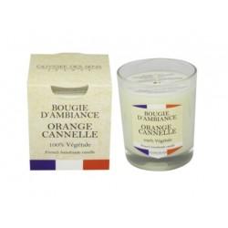 Bougie végétale - France Orange Cannelle - ODYSSEE DES SENS - Bougies parfumées - DE-444174