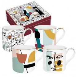 Coffret de 4 mugs - Modernism - EASY LIFE - Tasse / Mug - DE-534280