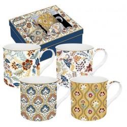 Coffret de 4 mugs - Cachemire - EASY LIFE - Tasse / Mug - DE-534257
