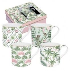 Coffret de 4 mugs - Wild Tropical - EASY LIFE - Tasse / Mug - DE-534231