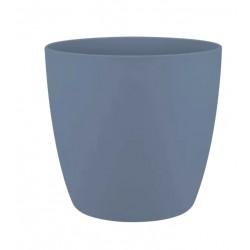Cache-pot d'intérieur - Brussels - 14 cm - Bleu Vintage - ELHO - Pots ronds - DE-523226
