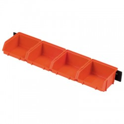 Bac à bec - x 4 - Avec support mural - Boîte à outils / Rangement - BR-504125