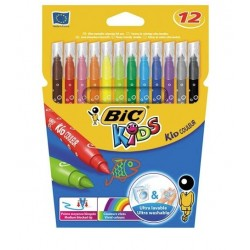 Feutres à dessin - Kids - 12 - BIC - Enfants / Protection enfants - DE-304840