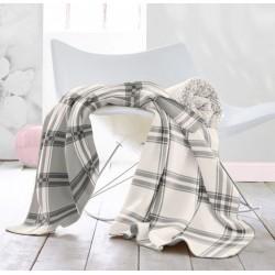Plaid - Carreaux Gris / Blanc - 150 x 200 cm - BIEDERLACK - Plaids / Couvertures - DE-215799