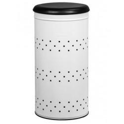 Panier à linge - Lina - Acier - Blanc - ROSSIGNOL - Rangement et soin du linge - DE-233049
