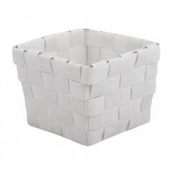 Panier de rangement - Tressé - Blanc - 10 x 7.5 x 10 cm - MSV - Accessoires salle de bain - DE-518564