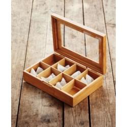 Boîte à Thé - 8 compartiments - 29 x 20 x 7.3 cm - POINT VIRGULE - Conservation / Boite / Emballage - DE-709733