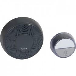 Kit carillon radio - Sans fil - Confort à piles - Anthracite - LEGRAND - Carillons / Sonnettes / Interphones - SI-538085