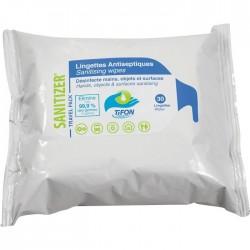 Lingettes antiseptiques - Sanitizer - 30 unités - MP HYGIENE - Hygiène de la maison - SI-235128