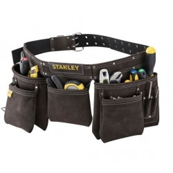 Ceinture porte outils - Cuir - Marron - STANLEY - Boîte à outils / Rangement - DE-292350