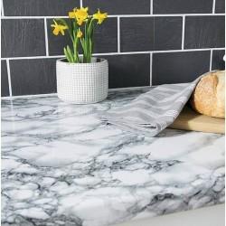 Adhésif - Marbre blanc - 90 cm x 2.1 m - D C FIX - Adhésifs décoratifs - DE-376351