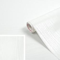 Adhésif - Bois Blanc brillant - 90 cm x 2.1 m - D C FIX - Adhésifs décoratifs - DE-377242