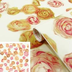 Adhésif - Roses - 45 cm x 2 m - D C FIX - Adhésifs décoratifs - DE-377572