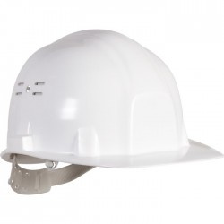 Casque de chantier - Euro protection - Blanc - EARLINE - Protection de la tête - SI-113850