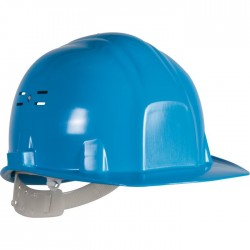 Casque de chantier - Euro protection - Bleu - EARLINE - Protection de la tête - SI-409020