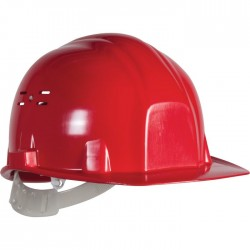 Casque de chantier - Euro protection - Rouge - EARLINE - Protection de la tête - SI-409030
