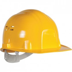 Casque de chantier - Euro protection - Jaune - EARLINE - Protection de la tête - SI-409050
