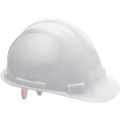Casque de chantier - Pacific - Blanc - EARLINE - Protection de la tête - SI-409048