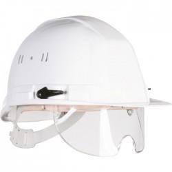 Casque de chantier - Lunettes intégrées - Blanc - EARLINE - Protection de la tête - SI-128045