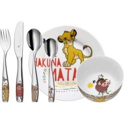 Set vaisselle et couverts pour enfant - 6 pièces - Le Roi Lion - WMF - Enfants / Protection enfants - DE-340456