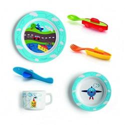 Set pour enfant vaisselle et couverts - 6 pièces - Bimbi - GUZZINI - Enfants / Protection enfants - DE-527102
