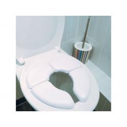 Réducteur WC pour enfant - Moelleux - Pliant - Blanc - GODONNIER - Enfants / Protection enfants - DE-541087