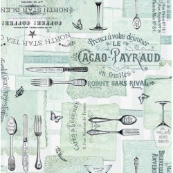 Nappe - Rectangle - Toile cirée - Gourmet - 150 x 220 cm - D C TABLE - Nappe - DE-354241