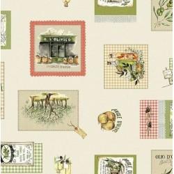 Nappe - Rectangle - Toile cirée - Olivia - 150 x 220 cm - D C TABLE - Nappe - DE-354259