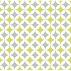 Nappe - Rectangle - Toile cirée - Amera - Gris / Jaune - 150 x 220 cm - D C TABLE - Nappe - DE-491662