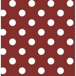 Nappe - Ronde - Toile cirée - Venita - Rouge - 150 cm - D C TABLE - Nappe - DE-355926