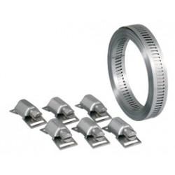 Bande sans fin 13 mm W4 - 3 mètres + 6 têtes - ACE - Colliers de serrage - 129991