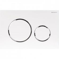 Plaque de déclenchement - Double débit - Sigma 20 - Blanc - GEBERIT - Commande WC / Boutons poussoir - SI-189244