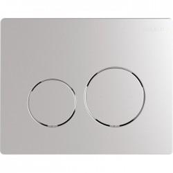 Plaque de déclenchement - Double débit - Sphere - Chromé mat- SIAMP - Commande WC / Boutons poussoir - SI-177020