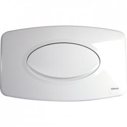 Plaque de déclenchement - Simple débit - Blanc - REGIPLAST - Commande WC / Boutons poussoir - SI-650792