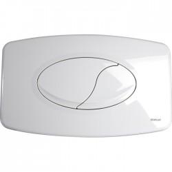 Plaque de déclenchement - Double débit - Blanc - REGIPLAST - Commande WC / Boutons poussoir - SI-650314