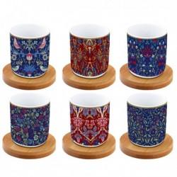 Coffret de 6 tasses àcafé - Coffee Mania - Floral - Porcelaine - EASY LIFE - Tasse / Mug - DE-555914
