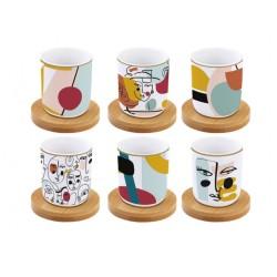 Coffret de 6 tasses àcafé - Coffee Mania - Modernism - Porcelaine - EASY LIFE - Tasse / Mug - DE-534272